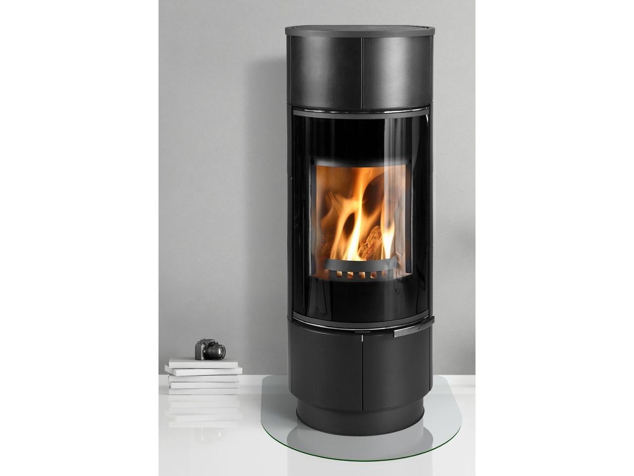 Круглая теплоемкая печь Thorma Atika Plus черная (каминофен)