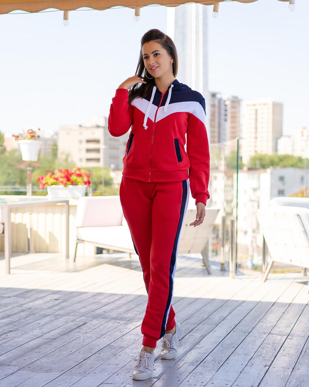 Женский теплый спортивный костюм оп905