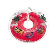 Круг для купания младенцев Delfin (Польща) красный+Подарок!
