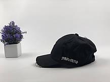 Комплект Кепка бейсболка Япония с кольцами и булавой (черная) + маска BTS + металлический значок пин, фото 2