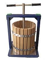 Ручной пресс для сока в дубовом корпусе Вилен (Вілєн) объемом 20 литров