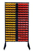 Ящики для метизов ― Стеллаж с пластиковыми ящиками для метизов ART18-153 ЖЧК /дешевые пластиковые ящики,коробки для метизов, фото 1