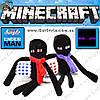 """Рождественский Эндермен из Minecraft - """"Christmas Ender"""" - 26 х 16 см."""
