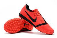 Футбольные сороконожки Nike Phantom VNM Academy TF Bright Crimson/Black, фото 1