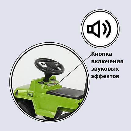 Машина-толокар 808 G-8001 JOY, цвет зеленый, русское озвучивание, световые эффекты, багажник, фото 2