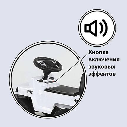 Машина-толокар 808 G-8005 JOY, цвет белый, русское озвучивание, световые эффекты, багажник, фото 2