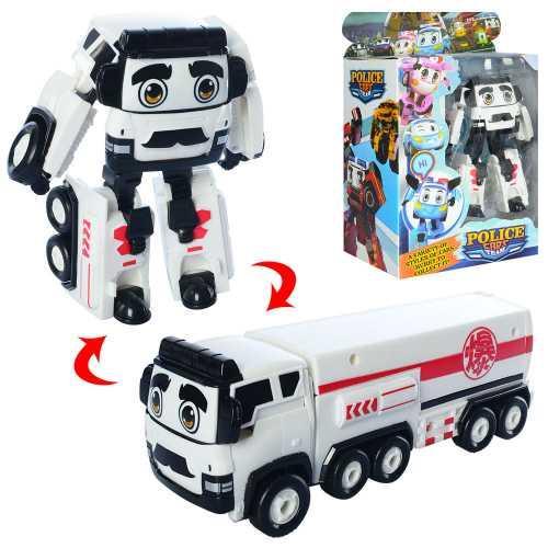 Трансформер JT3105, полиция, робот+машинка, 14см