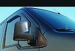 Ford Connect 2002-2006 рр. Накладки на дзеркала Карбон (2 шт., пласт.)