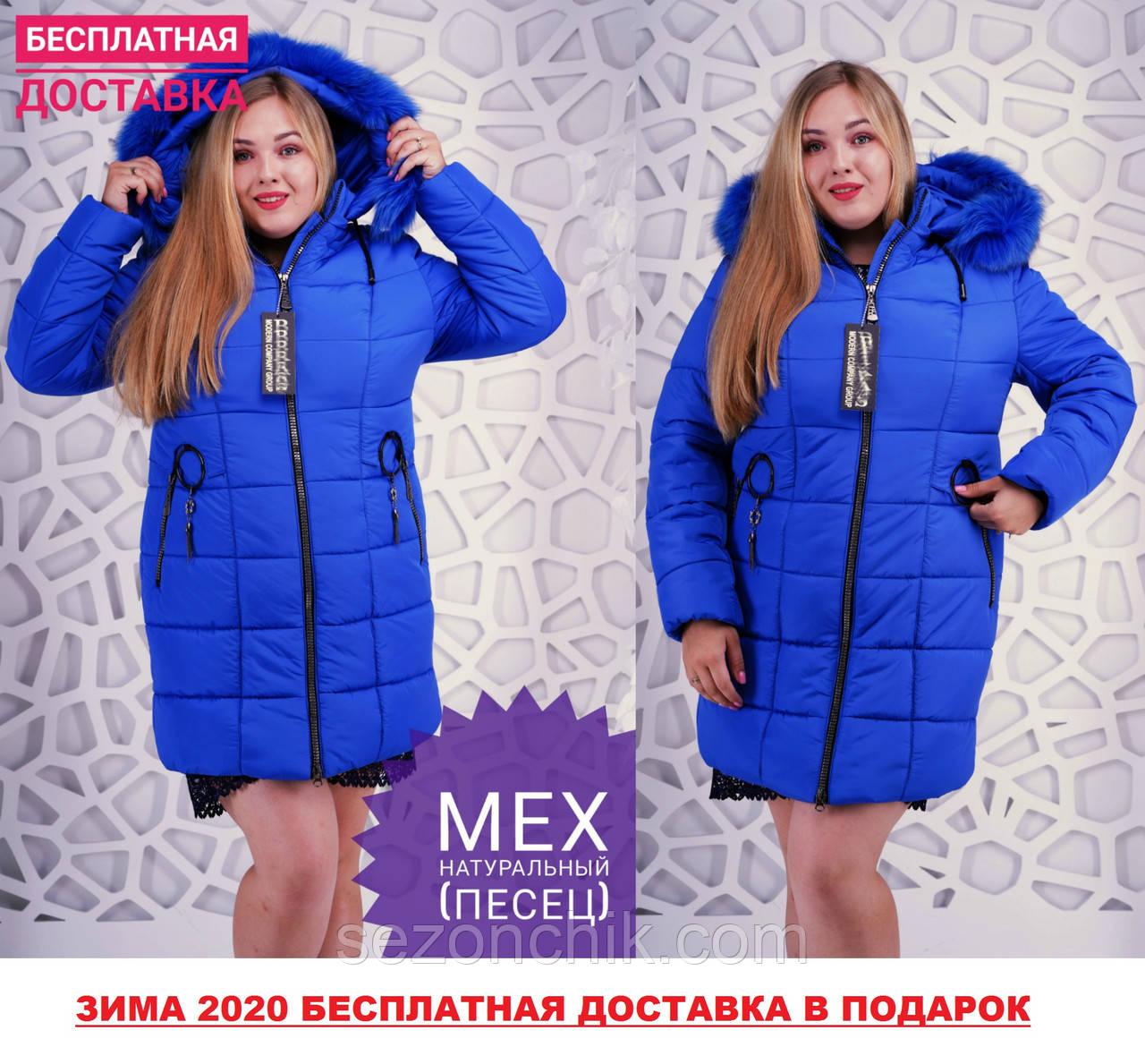Женский модный яркий пуховик интернет магазин