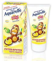 """Aquarelle. Детская зубная паста """"Тутти-фрутти"""", 50 мл, 3 года + (403355)"""