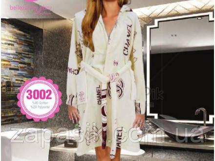 Халат Женский Bellezza By Ebru Турецкий С Рисунком Chanel Модель 3002