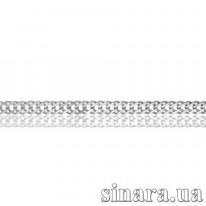 Серебряная цепь Рембо 29119 с позолотой