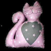 Подушка  игрушка Кот 40х45см розовый, фото 1