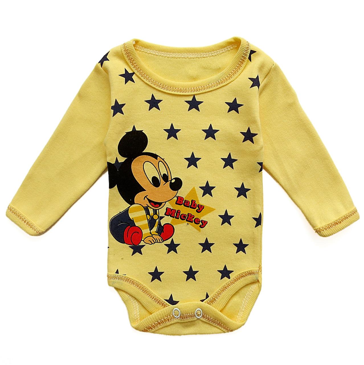 Боди Mickey Mouse унисекс. 1 мес