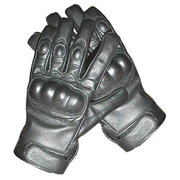 Тактические перчатки кожаные MilTec Black 12504102 M