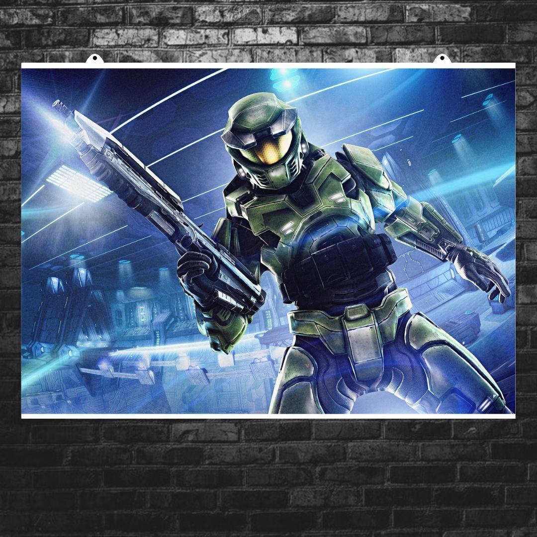 Постер Halo: Combat Evolved (арт). Размер 60x43см (A2). Глянцевая бумага