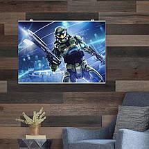 Постер Halo: Combat Evolved (арт). Размер 60x43см (A2). Глянцевая бумага, фото 2