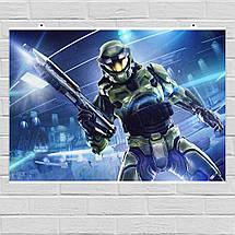 Постер Halo: Combat Evolved (арт). Размер 60x43см (A2). Глянцевая бумага, фото 3