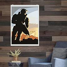 """Постер """"Halo"""", минималистичный арт. Размер 60x43см (A2). Глянцевая бумага, фото 2"""