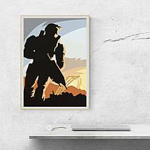 """Постер """"Halo"""", минималистичный арт. Размер 60x43см (A2). Глянцевая бумага, фото 3"""