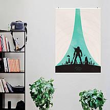 """Постер """"Halo: Combat Evolved"""". Минималистичный арт. Размер 60x43см (A2). Глянцевая бумага, фото 2"""
