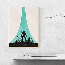 """Постер """"Halo: Combat Evolved"""". Минималистичный арт. Размер 60x43см (A2). Глянцевая бумага, фото 3"""