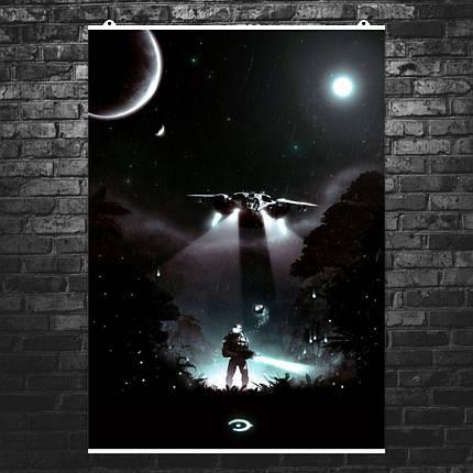 """Постер """"Чиф и Виновная Искра"""". Halo: Combat Evolved.. Размер 60x43см (A2). Глянцевая бумага, фото 2"""