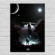 """Постер """"Чиф и Виновная Искра"""". Halo: Combat Evolved.. Размер 60x43см (A2). Глянцевая бумага, фото 3"""
