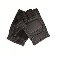 Тактические перчатки кожаные беспалые с защитными вставками MilTec Black 12515002 XL