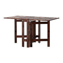 ИКЕА (IKEA) ЭПЛАРО, 502.085.35, Складной стол, садовый, коричневый коричневая морилка, 20/77/133x62 см