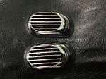 Mazda 2 2003-2007 гг. Решетка на повторитель `Овал` (2 шт, ABS)