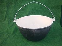 Казан чугунный толстостенный эмалированный 10 литров.