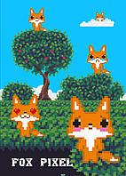 Fox pixel. Тетрадь школьная в мягкой обложке, 48 л.
