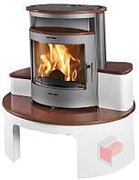 Кафельная печь Cortina , печь-камин, топка, каминофен. отопительная печь на дровах