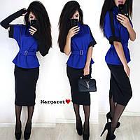 Женский костюм с поясом (кофта, юбка и перчатки), фото 1