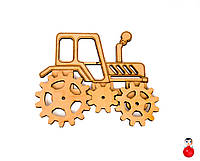 Заготовка Трактор с шестеренками (3шт) для бизиборда Дерев'яний трактор шестерінки для бізіборда