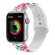 Ремешок для Apple Watch (40/44 mm) Premium Print Flower