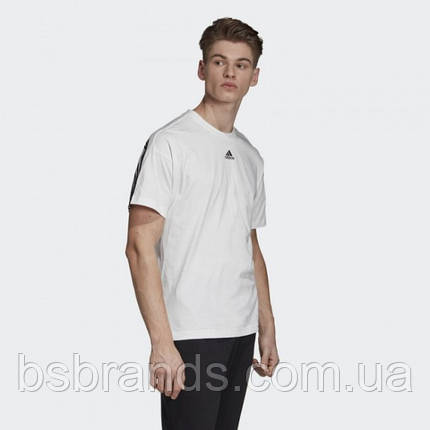 Мужская футболка adidas MUST HAVES 3-STRIPES (АРТИКУЛ: DX7656), фото 2