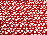 Трикотаж халатный сердечки