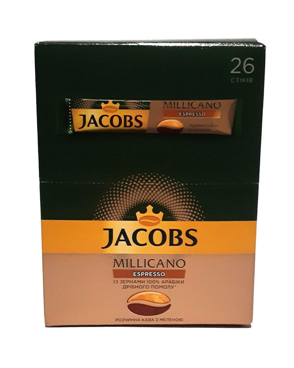 Кава розчинна Jacobs Millicano Espresso 26 x 1,8 м в стіках
