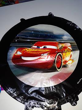 Гелиевый шар фольгированный круглый с рисунком Тачки