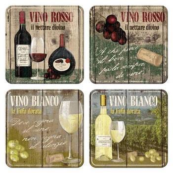 Набор металлических подставок Nostalgic-Art Vino Rosso and Bianco (46012)