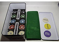 I3-96 Покер метал 200 фишек, Покерный набор в подарочной упаковке, Набор для игры в покер, настольный покер