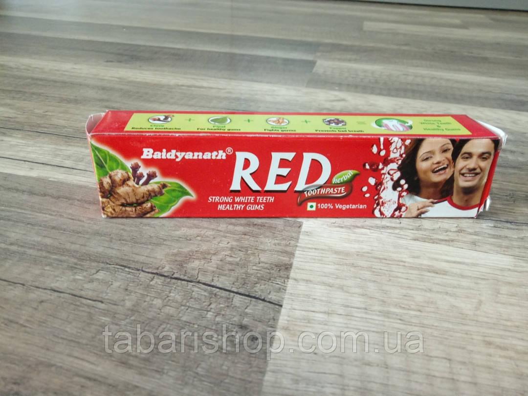 Красная зубная паста Toothpaste Red Baidyanath, 100г