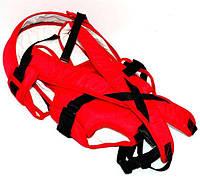 Гр Рюкзак-кенгуру №8 (1) лёжа,цвет красный. Предназначен для детей с двухмесячного возраста