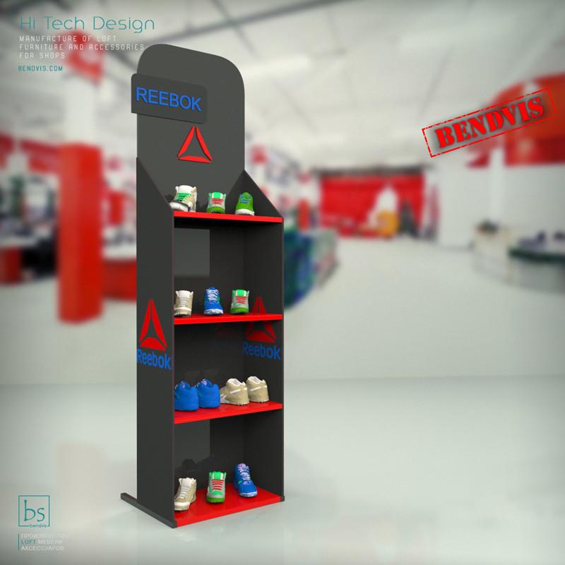 Изготовление торгового оборудования на заказ Reebok