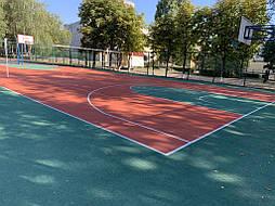 Двухслойное покрытие для спортивной площадки г. Миргород 44