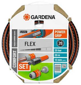 """ШлангGardena Flex 9x9 1/2"""" х 20м + комплект для полива"""