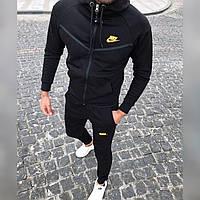Мужской спортивный костюм Осень Зима Турция ткань 3-х нить тёплый цвет черный, фото 1
