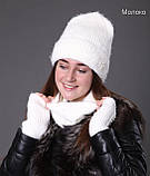 Шапка женская зимняя вязаная, фото 4